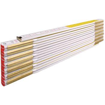 Maßstab Zollstock / TYP:617/11 weiß/gelb 3 Meter