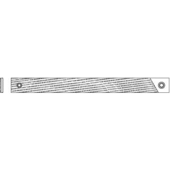 gefräste Bezugfeilenblätter 350 mm Hieblänge flac