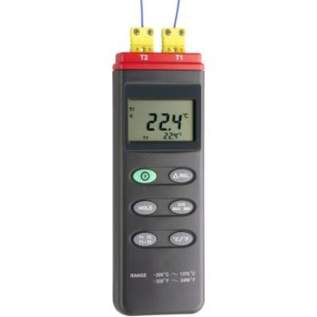 2-Kanal Temperatur-Messgerät inkl. 2x Thermo