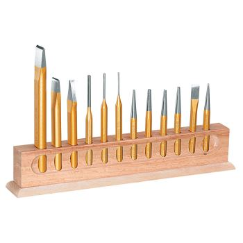 Werkzeugsatz 12-tlg im Holzständer