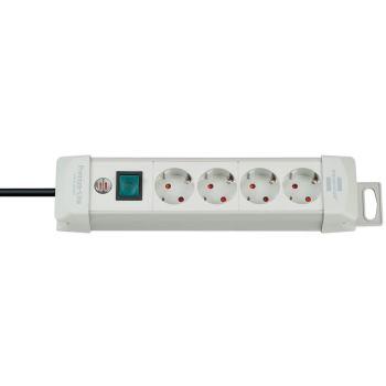 Premium-Line Steckdosenleiste 4-fach lichtgrau 1,8