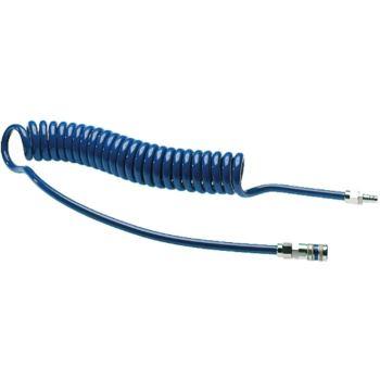 Spiralschläuche PU mit Nippel und Kupplung 4 m 8,0