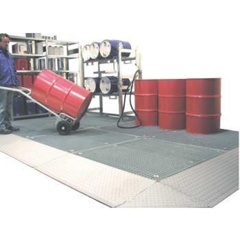 Bodenschutzwanne LxBxH 1350x1350x78 mm, Auffangvol