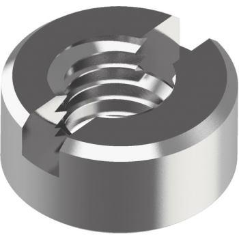 Schlitzmuttern DIN 546 - Edelstahl A1 M10