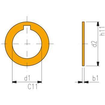 Ringe für Fräsdorne 22 x 0,03 mm Form A DIN 2084
