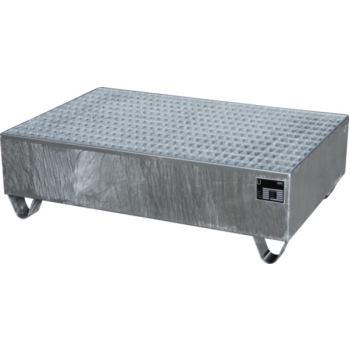 Stahl-Auffangwanne RAL 3000 für 2 Fässer mit 200 L