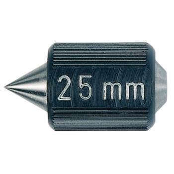 Einstellmaß Whitworth 55 Grad mit Wärmeschutz, Län ge 25 mm