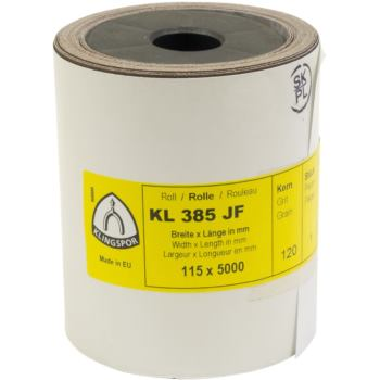 Schleifgewebe-Rollen, braun, KL 385 JF , Abm.: 115x5000 mm, Korn: 120