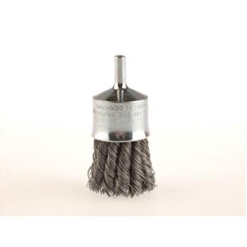 Zopf-Pinselbürsten mit 6 mm Schaft Drm 29 mm 12 Zöpfe mit Blume Stahldraht STH glatt 0,25 mm ho
