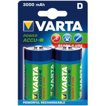 Akku RECHARGEABLE Wiederaufladbar Batterie POWER Mono Blister 2 Stück 1,2