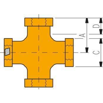 Hochdruckverschraubung FZ 1613 Kreuzstück 3/8 Inc