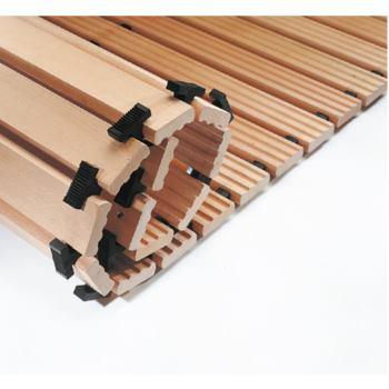 Sicherheits-Holzlaufrost 2000x1000 mm Keil 3-seiti
