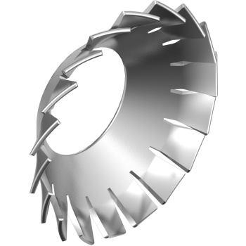 Fächerscheiben DIN 6798 außengezahnt-Edelstahl A2 versenkt AZV 4,3 für M 4