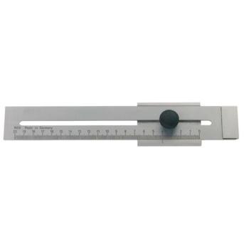 Streichmaß mattverchromt 250 mm