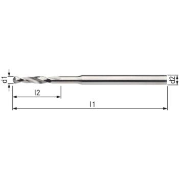 Kleinstbohrer HSSE DIN 1899A RN 0,25 mm zyl.