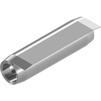 Spiralspannstifte ISO 8750 - Edelstahl 1.4310 Regelausführung 4x45