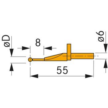 Messeinsatz aus VHM-1 mm Kugeldurchmesser