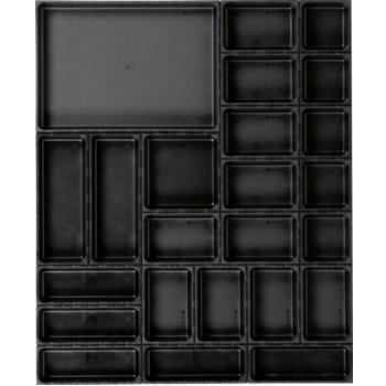 Ordnungssystem 25-teilig Abm. Matte BxT 696x576mm