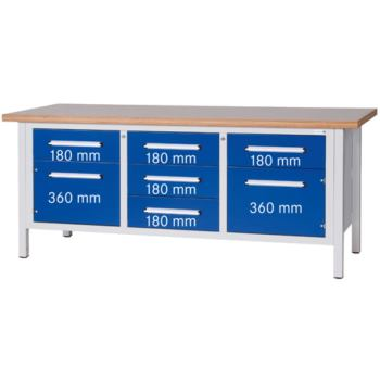 Werkbank Serie L L x T x H 2000 x 750 x 840 mm