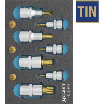 TORX® Schraubendreher-Steckschlüsseleinsatz-Satz, 163-218/10