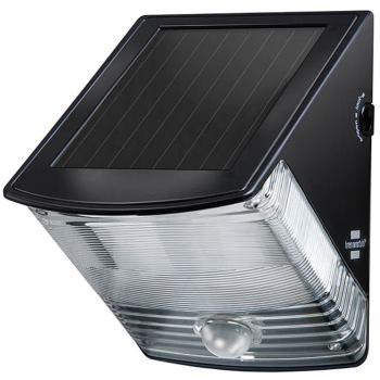 Solar LED-Wandleuchte SOL 04 plus IP44 mit Infrarot-Bewegungsmelder 2xLED 0,5W 85lm Farbe Schwarz
