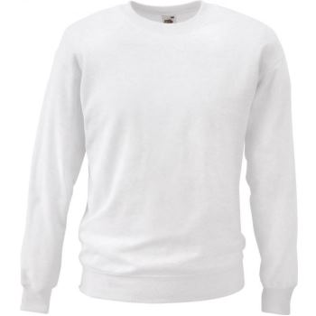 Fruit of the Loom Sweatshirt weiß | XL