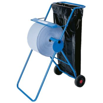 Abrollgerät für Papier- Wischtücher, aus Metall/bl