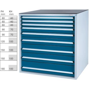 Werkzeugschrank System 700 B, Modell 32/9 mit S
