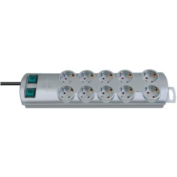 Primera-Line Steckdosenleiste 10-fach silber 2m H0