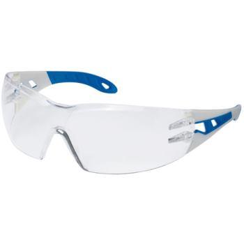 Schutzbrille pheos mit blau/grauen Bügeln