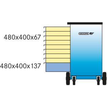 GEDORE Rollwerkbank Modell 1504 0810 mit 9 Schubfä