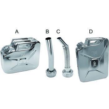 Ausguss-Stutzen Typ C, flexibel, Stahl verzinkt