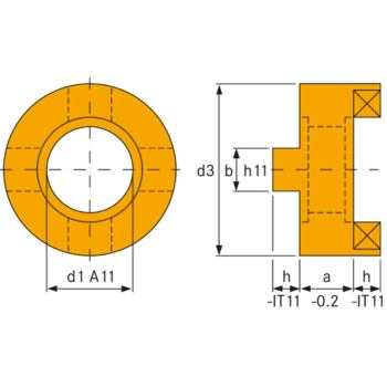 Mitnehmerringe DIN 6366 40 mm