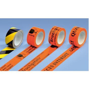 Rollen Warnbänder selbstklebend, PVC-Band gesperrt
