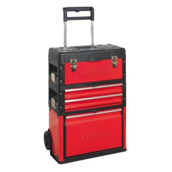 Fahrbare Kunststoff-Stahlblech-Werkzeugkiste 850.0