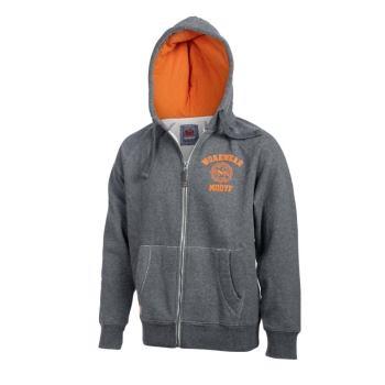 Herren Sweatjacke grau/orange Gr. XS