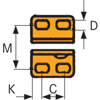 Senkrecht-Schnellspanner Größe 4 mit waagrechtem