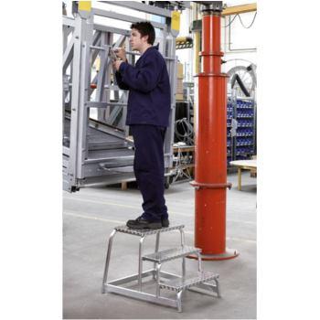 Aluminium-Maschinentritt Z 600 4 Stufen 0,8