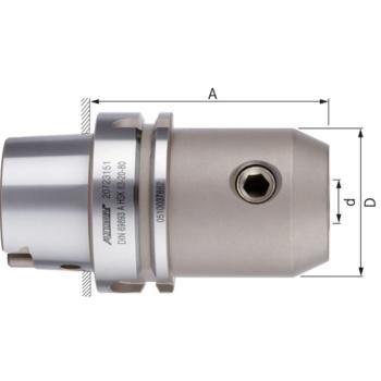 Flächenspannfutter HSK 63-A Durchmesser 16 mm A = 160 DIN 69893-1