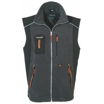 Softshell Mix Weste grau/orange Gr. S