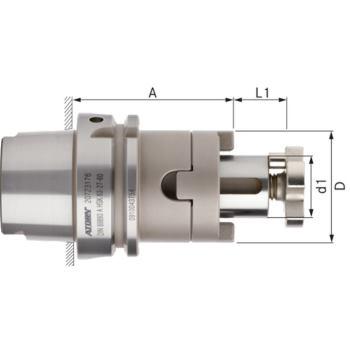 Kombi-Aufsteckfräserdorn lang HSK 63-A Durchmesser 16 mm DIN 69893-1