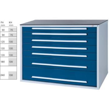 Werkzeugschrank BX 8 32/7 mit 7 Schubladen HxBx