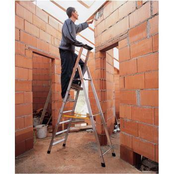 Stufen-Stehleiter senkr. Höhe 1,50m 2 x 7 S