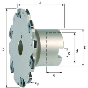 Wendeschneidplatten-Scheibenfräser Z= 8 80 mm mit Bund für WSP SNHX1102T