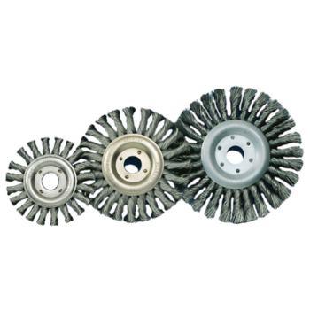 Rundbürste Durchmesser 115 mm, 22,2 Gezopfter V2A Draht 0,5 mm