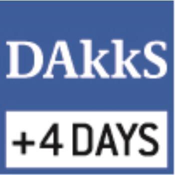 F1/F2 100 mg DKD Kalibrierschein / für konventio
