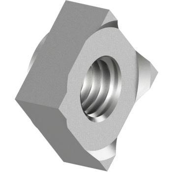 Vierkant-Schweissmuttern DIN 928 - Edelst. A4 M 6