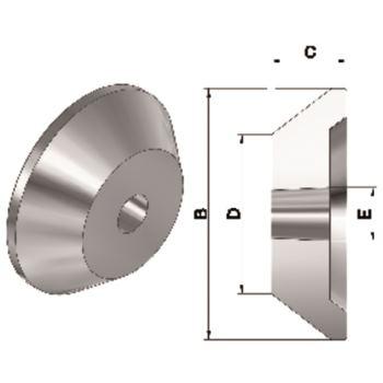 Passende Zentrierkegel-Aufsätze AZ, Größe 2, für MK 6, Standard Ausführung