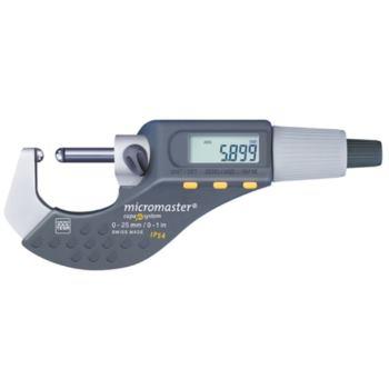 -Micromaster elektronisch 0-25mm, 2 ballige Messfl