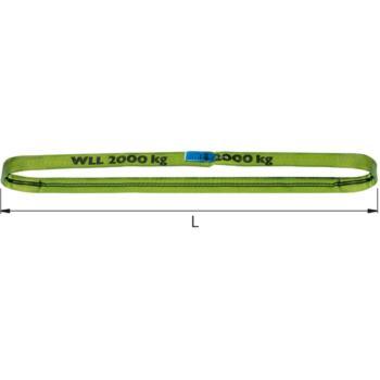 Rundschlinge 5000 kg Traglast- 6 m Umfang, zweilagig